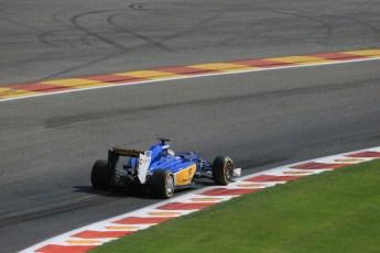 World © Octane Photographic Ltd. Sauber F1 Team C34-Ferrari – Marcus Ericsson. Saturday 22nd August 2015, F1 Belgian GP Qualifying, Spa-Francorchamps, Belgium. Digital Ref: 1382LB1D0458