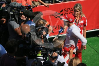 World © Octane Photographic Ltd. Scuderia Ferrari SF15-T – Sebastian Vettel. Saturday 22nd August 2015, F1 Belgian GP Post-Qualifying Media Interviews, Spa-Francorchamps, Belgium. Digital Ref: 1382LB1D0862