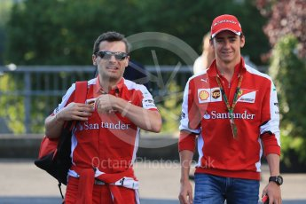 World © Octane Photographic Ltd. Scuderia Ferrari SF15-T– Esteban Gutierrez. Saturday 22nd August 2015, F1 Belgian GP Paddock, Spa-Francorchamps, Belgium. Digital Ref: 1380LB1D9246