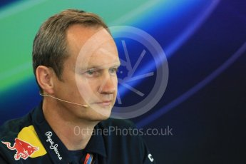 World © Octane Photographic Ltd. FIA Team Personnel Press Conference. Friday 21st August 2015, F1 Belgian GP, Spa-Francorchamps, Belgium. Paul Monaghan - Infinity Red Bull Racing Chief Engineer - Car Engineering. Digital Ref: 1377LB1D8700