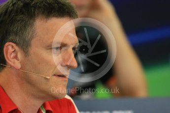 World © Octane Photographic Ltd. FIA Team Personnel Press Conference. Friday 21st August 2015, F1 Belgian GP, Spa-Francorchamps, Belgium. James Allison - Scuderia Ferrari Technical Director. Digital Ref: 1377LB1D8703