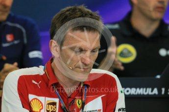 World © Octane Photographic Ltd. FIA Team Personnel Press Conference. Friday 21st August 2015, F1 Belgian GP, Spa-Francorchamps, Belgium. James Allison - Scuderia Ferrari Technical Director. Digital Ref: 1377LB1D8729