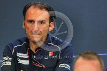 World © Octane Photographic Ltd. FIA Team Personnel Press Conference. Friday 21st August 2015, F1 Belgian GP, Spa-Francorchamps, Belgium. Giampaolo Dall'Ara – Sauber Ferrari F1 Team Head of Track Engineering. Digital Ref: 1377LB1D8798