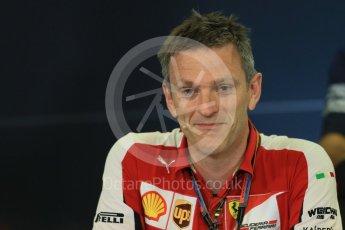 World © Octane Photographic Ltd. FIA Team Personnel Press Conference. Friday 21st August 2015, F1 Belgian GP, Spa-Francorchamps, Belgium. James Allison - Scuderia Ferrari Technical Director. Digital Ref: 1377LB1D8810