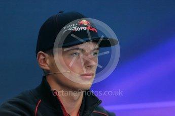 World © Octane Photographic Ltd. FIA Drivers' Press Conference. Thursday 23rd July 2015, F1 Belgian GP, Spa-Francorchamps, Belgium. Max Verstappen - Scuderia Toro Rosso. Digital Ref: 1371LB1D7291