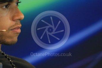 World © Octane Photographic Ltd. FIA Drivers' Press Conference. Thursday 23rd July 2015, F1 Belgian GP, Spa-Francorchamps, Belgium. Lewis Hamilton – Mercedes AMG Petronas. Digital Ref: 1371LB1D7367a