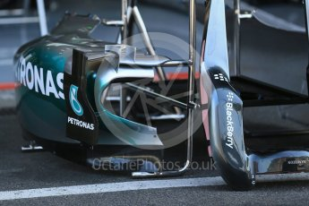 World © Octane Photographic Ltd. Mercedes AMG Petronas F1 W06 Hybrid. Thursday 20th August 2015, F1 Belgian GP Pitlane, Spa-Francorchamps, Belgium. Digital Ref: 1370LB1D6697