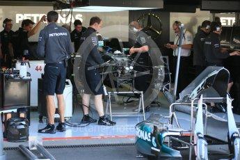 World © Octane Photographic Ltd. Mercedes AMG Petronas F1 W06 Hybrid – Lewis Hamilton. Thursday 20th August 2015, F1 Belgian GP Pitlane, Spa-Francorchamps, Belgium. Digital Ref: 1370LB1D6702