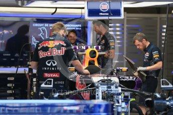 World © Octane Photographic Ltd. Infiniti Red Bull Racing RB11 – Daniil Kvyat. Thursday 20th August 2015, F1 Belgian GP Pitlane, Spa-Francorchamps, Belgium. Digital Ref: 1370LB1D6721