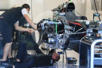 World © Octane Photographic Ltd. McLaren Honda MP4/30. Thursday 20th August 2015, F1 Belgian GP Pitlane, Spa-Francorchamps, Belgium. Digital Ref: 1370LB1D6908