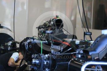 World © Octane Photographic Ltd. McLaren Honda MP4/30. Thursday 20th August 2015, F1 Belgian GP Pitlane, Spa-Francorchamps, Belgium. Digital Ref: 1370LB1D6911