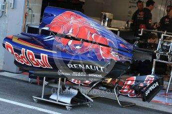 World © Octane Photographic Ltd. Scuderia Toro Rosso STR10. Thursday 20th August 2015, F1 Belgian GP Pitlane, Spa-Francorchamps, Belgium. Digital Ref: 1370LB1D6975