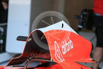 World © Octane Photographic Ltd. Manor Marussia F1 Team MR03B. Thursday 20th August 2015, F1 Belgian GP Pitlane, Spa-Francorchamps, Belgium. Digital Ref: 1370LB1D7083