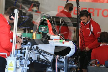World © Octane Photographic Ltd. Manor Marussia F1 Team MR03B. Thursday 20th August 2015, F1 Belgian GP Pitlane, Spa-Francorchamps, Belgium. Digital Ref: 1370LB1D7087