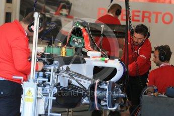 World © Octane Photographic Ltd. Manor Marussia F1 Team MR03B. Thursday 20th August 2015, F1 Belgian GP Pitlane, Spa-Francorchamps, Belgium. Digital Ref: 1370LB1D7090