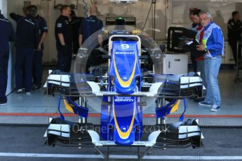 World © Octane Photographic Ltd. Sauber F1 Team C34-Ferrari – Marcus Ericsson. Thursday 20th August 2015, F1 Belgian GP Pitlane, Spa-Francorchamps, Belgium. Digital Ref: 1370LB1D7120