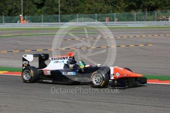 World © Octane Photographic Ltd. Friday 21st August 2015. Trident – Beitske Visser. GP3 Practice – Spa-Francorchamps, Belgium. Digital Ref. : 1378LB5D6635