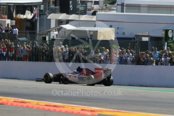 World © Octane Photographic Ltd. Scuderia Toro Rosso STR10 – Carlos Sainz Jnr. Sunday 23rd August 2015, F1 Belgian GP Race, Spa-Francorchamps, Belgium. Digital Ref: 1389LB1D2148