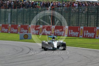 World © Octane Photographic Ltd. Mercedes AMG Petronas F1 W06 Hybrid – Lewis Hamilton. Sunday 23rd August 2015, F1 Belgian GP Race, Spa-Francorchamps, Belgium. Digital Ref: 1389LB1D2156