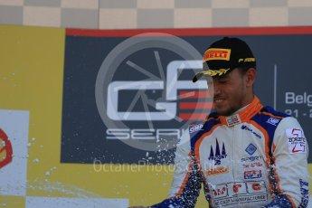 World © Octane Photographic Ltd. Sunday 23rd August 2015. Trident – Luca Ghiotto (1st). GP3 Race 2 Podium – Spa-Francorchamps, Belgium. Digital Ref. : 1385LB1D1643