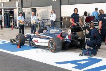 World © Octane Photographic Ltd. Friday 3rd July 2015. Russian Time – Mitch Evans. GP2 Practice – Silverstone, UK. Digital Ref. : 1329JM1D3220