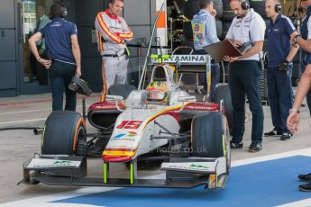 World © Octane Photographic Ltd. Friday 3rd July 2015. Campos Racing – Rio Haryanto. GP2 Practice – Silverstone, UK. Digital Ref. : 1329JM1D3862