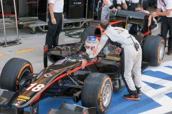 World © Octane Photographic Ltd. Friday 3rd July 2015. MP Motorsport – Oliver Rowland. GP2 Practice – Silverstone, UK. Digital Ref. : 1329JM1D3881
