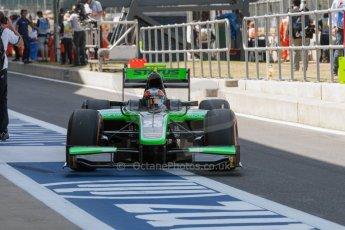 World © Octane Photographic Ltd. Friday 3rd July 2015. Status Grand Prix – Richie Stanaway. GP2 Practice – Silverstone, UK. Digital Ref. : 1329JM1D3897