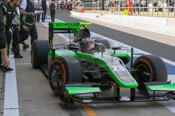 World © Octane Photographic Ltd. Friday 3rd July 2015. Status Grand Prix – Richie Stanaway. GP2 Practice – Silverstone, UK. Digital Ref. : 1329JM1D3899