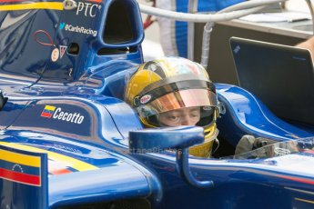 World © Octane Photographic Ltd. Friday 3rd July 2015. Carlin – Johnny Cecotto. GP2 Practice – Silverstone, UK. Digital Ref. : 1329JM1D3945