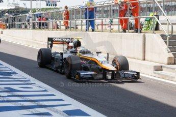 World © Octane Photographic Ltd. Friday 3rd July 2015. Hilmer Motorsport – Jon Lancaster. GP2 Practice – Silverstone, UK. Spain. Digital Ref. : 1329JM1D3950