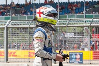 World © Octane Photographic Ltd. Friday 3rd July 2015. Hilmer Motorsport – Jon Lancaster. GP2 Practice – Silverstone, UK. Spain. Digital Ref. : 1329JM1D4071