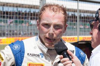 World © Octane Photographic Ltd. Friday 3rd July 2015. Hilmer Motorsport – Jon Lancaster. GP2 Practice – Silverstone, UK. Spain. Digital Ref. : 1329JM1D4082
