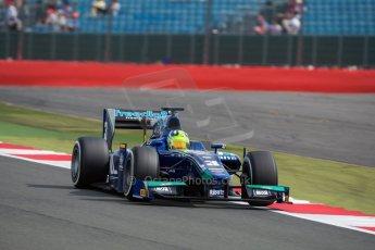 World © Octane Photographic Ltd. Friday 3rd July 2015. Carlin – Julian Leal. GP2 Qualifying – Silverstone, UK. Digital Ref. : 1330JM1D3777