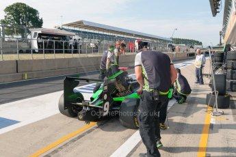 World © Octane Photographic Ltd. Thursday 2nd July 2015. Status Grand Prix – Sandy Stuvik. GP3 Paddock – Silverstone, UK. Digital Ref. : 1331JM1D3853