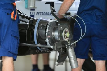World © Octane Photographic Ltd. Williams Martini Racing FW37. Thursday 2nd July 2015, F1 British GP Pit Lane, Silverstone, UK. Digital Ref: 1324LB1D2822
