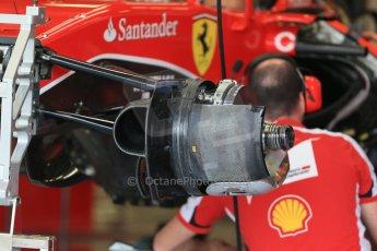 World © Octane Photographic Ltd. Scuderia Ferrari SF15-T. Thursday 2nd July 2015, F1 British GP Pit Lane, Silverstone, UK. Digital Ref: 1324LB1D2855