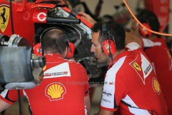 World © Octane Photographic Ltd. Scuderia Ferrari SF15-T. Thursday 2nd July 2015, F1 British GP Pit Lane, Silverstone, UK. Digital Ref: 1324LB1D2859