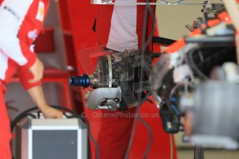 World © Octane Photographic Ltd. Scuderia Ferrari SF15-T. Thursday 2nd July 2015, F1 British GP Pit Lane, Silverstone, UK. Digital Ref: 1324LB1D2882