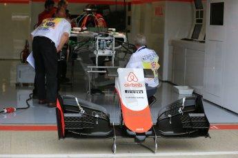World © Octane Photographic Ltd. Manor Marussia F1 Team MR03B. Thursday 2nd July 2015, F1 British GP Pit Lane, Silverstone, UK. Digital Ref: 1324LB5D8402