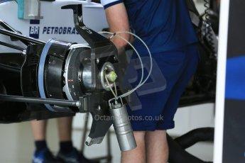 World © Octane Photographic Ltd. Williams Martini Racing FW37. Thursday 2nd July 2015, F1 British GP Pit Lane, Silverstone, UK. Digital Ref: 1324LB5D8450