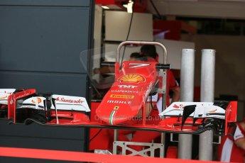 World © Octane Photographic Ltd. Scuderia Ferrari SF15-T. Thursday 2nd July 2015, F1 British GP Pit Lane, Silverstone, UK. Digital Ref: 1324LB5D8454