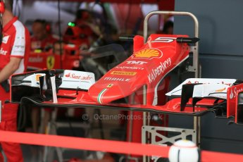 World © Octane Photographic Ltd. Scuderia Ferrari SF15-T. Thursday 2nd July 2015, F1 British GP Pit Lane, Silverstone, UK. Digital Ref: 1324LB5D8456