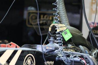 World © Octane Photographic Ltd. Lotus F1 Team E23 Hybrid. Thursday 2nd July 2015, F1 British GP Pit Lane, Silverstone, UK. Digital Ref: 1324LB5D8489