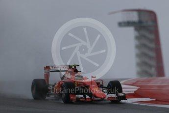 World © Octane Photographic Ltd. Scuderia Ferrari SF15-T– Kimi Raikkonen. Friday 23rd October 2015, F1 USA Grand Prix Practice 1, Austin, Texas - Circuit of the Americas (COTA). Digital Ref: 1460LB1D8701