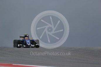 World © Octane Photographic Ltd. Sauber F1 Team Reserve Driver– Raffaele Marciello. Friday 23rd October 2015, F1 USA Grand Prix Practice 1, Austin, Texas - Circuit of the Americas (COTA). Digital Ref: 1460LB1D8993