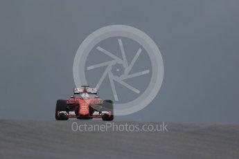 World © Octane Photographic Ltd. Scuderia Ferrari SF15-T– Sebastian Vettel. Friday 23rd October 2015, F1 USA Grand Prix Practice 1, Austin, Texas - Circuit of the Americas (COTA). Digital Ref: 1460LB1D9016