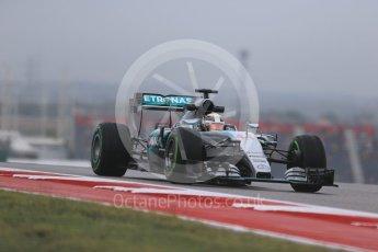 World © Octane Photographic Ltd. Mercedes AMG Petronas F1 W06 Hybrid – Lewis Hamilton. Friday 23rd October 2015, F1 USA Grand Prix Practice 1, Austin, Texas - Circuit of the Americas (COTA). Digital Ref: 1460LB1D9288