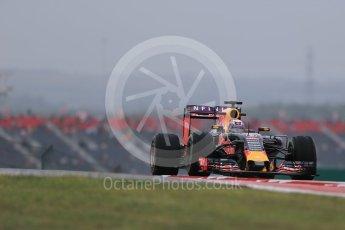 World © Octane Photographic Ltd. Infiniti Red Bull Racing RB11 – Daniel Ricciardo. Friday 23rd October 2015, F1 USA Grand Prix Practice 1, Austin, Texas - Circuit of the Americas (COTA). Digital Ref: 1460LB1D9293