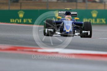 World © Octane Photographic Ltd. Sauber F1 Team Reserve Driver– Raffaele Marciello. Friday 23rd October 2015, F1 USA Grand Prix Practice 1, Austin, Texas - Circuit of the Americas (COTA). Digital Ref: 1460LB1D9453